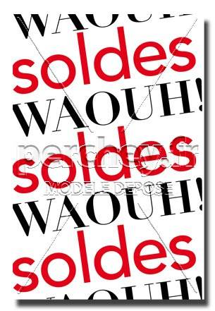 Affiche Soldes Waouh