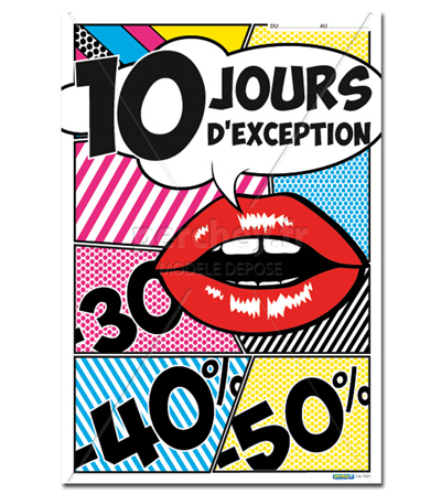 Affiche Promo 10 jours d'exception Comics - 46 x 68