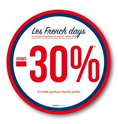Sticker French Days rond (kit de 2)