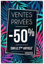 AFFICHE Vente Privée Nature