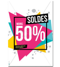 Affiche Soldes Triangle