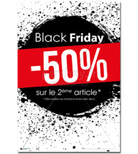 AFFICHE Black Friday encre
