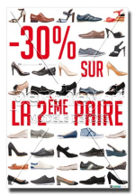 Affiche Promotions Chaussures