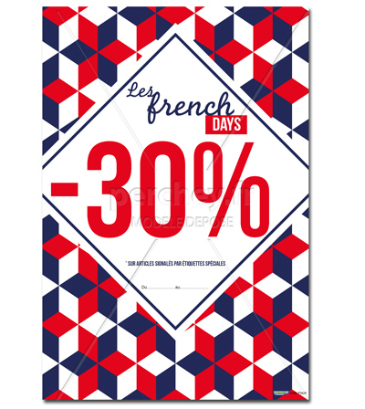 Affiche FRENCH DAYS Motif 3D