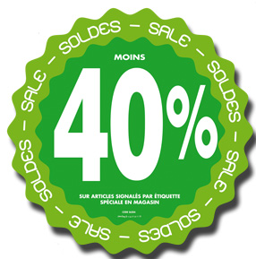 Stickers Soldes -40%