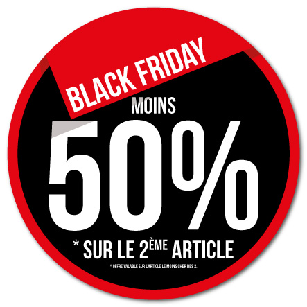 Sticker Black Friday 2 dimensions