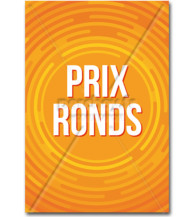 Affiche Prix ronds orange