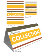 Kit Nouvelle Collection jaune rayé