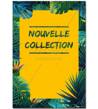 Affiche Nouvelle Collection Tropical