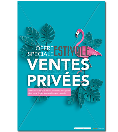 AFFICHE Ventes Privées Flamand