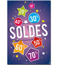 Affiche Soldes Purple multi