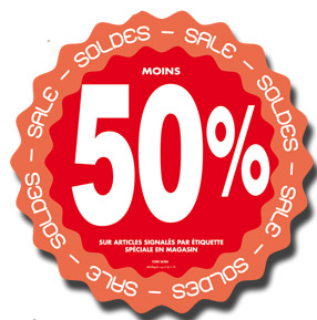 Stickers Soldes -50%