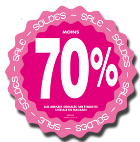 Stickers Soldes -70%