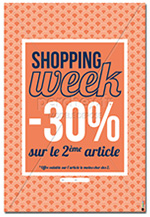 Affiche Promotion shopping week