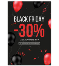 AFFICHE Black Friday Ballons