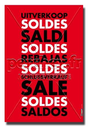 Affiche Soldes International - 46 x 68