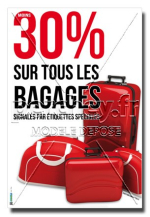 Affiche Promotions Bagages