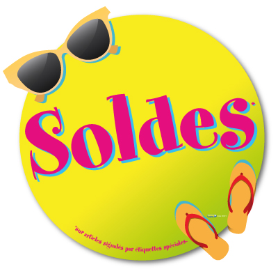 Sticker Soldes Fun (kit de 2)