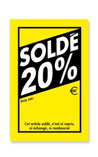 27d5cfc2700681 Etiquette soldes -20% : etiquettes pour articles soldés