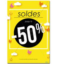 Affiche Soldes pappap