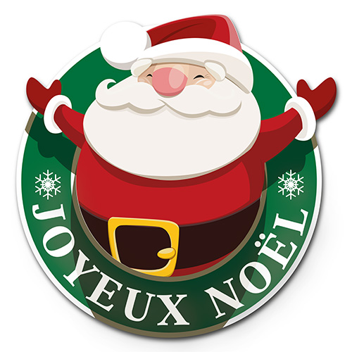 STICKER Père noël (kit de 2)