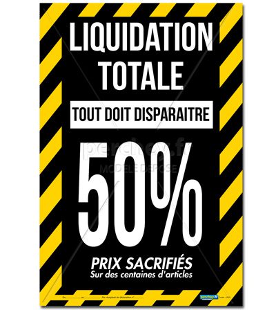 Affiche Liquidation totale Rubalise
