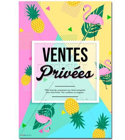 Affiche offre sp ciale ventes priv es - Ventes privees decoration ...