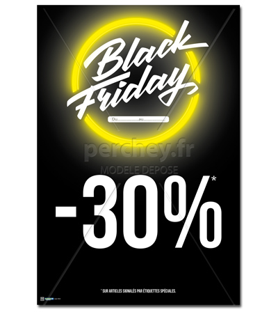 AFFICHE Black Friday néon