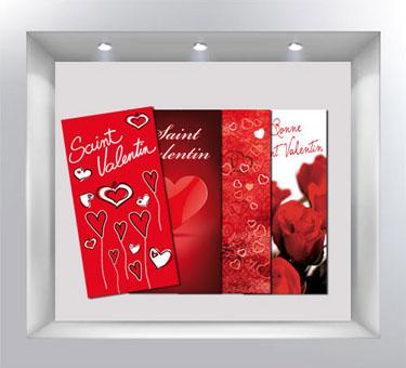 D coration de vitrine de magasin avec - Deco vitrine st valentin ...