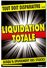 "Affiche ""LIQUIDATION FLASH"