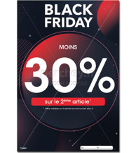 AFFICHE Black Friday planète