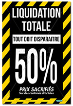 Affiche Liquidation totale Rubalise- 46 x 68