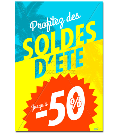 Affiche Soldes BY