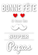 Sticker imprimé Bonne Fête Supers papas (kit de 2)