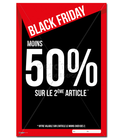 AFFICHE Black Friday