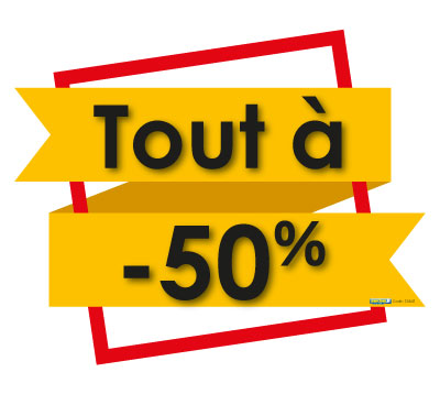 Sticker Tout à 50% (kit de 2)