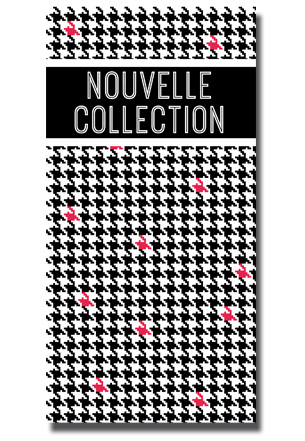 "Décor de vitrine : ""Nouvelle Collection Pied-de-poule"