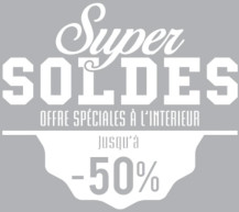 Sticker Super soldes