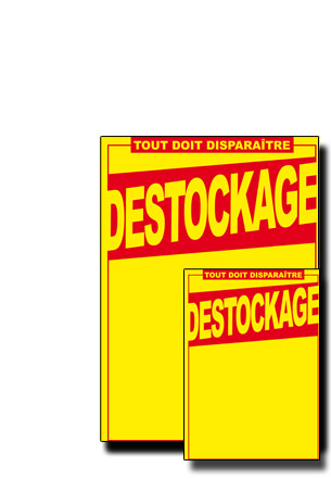 "Kit PLV ""DESTOCKAGE"""