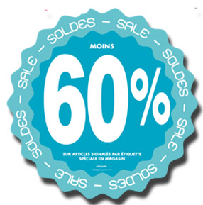 Stickers Soldes -60%