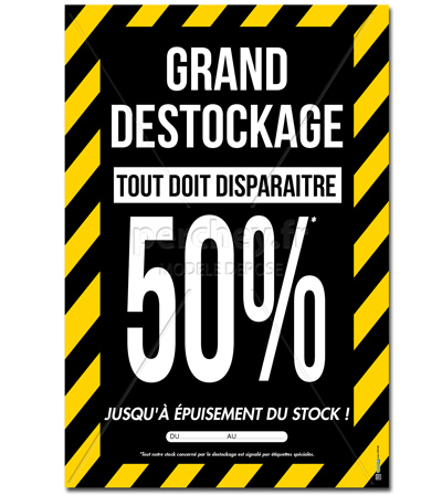 afa9848ba867b3 Affiche destockage -P2781GD Affiche Grand destockage