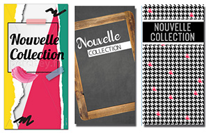 Fonds de vitrine et affiches Nouvelle Collection
