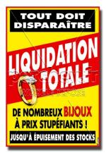 Affiche Liquidation Totale Bague