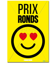 Affiche Prix ronds Smiley