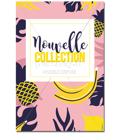 Affiche Nouvelle Collection Fruits
