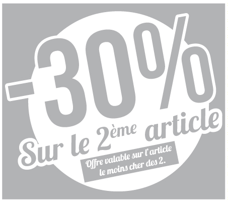 Sticker -30% sur le 2ème article (kit de 2)